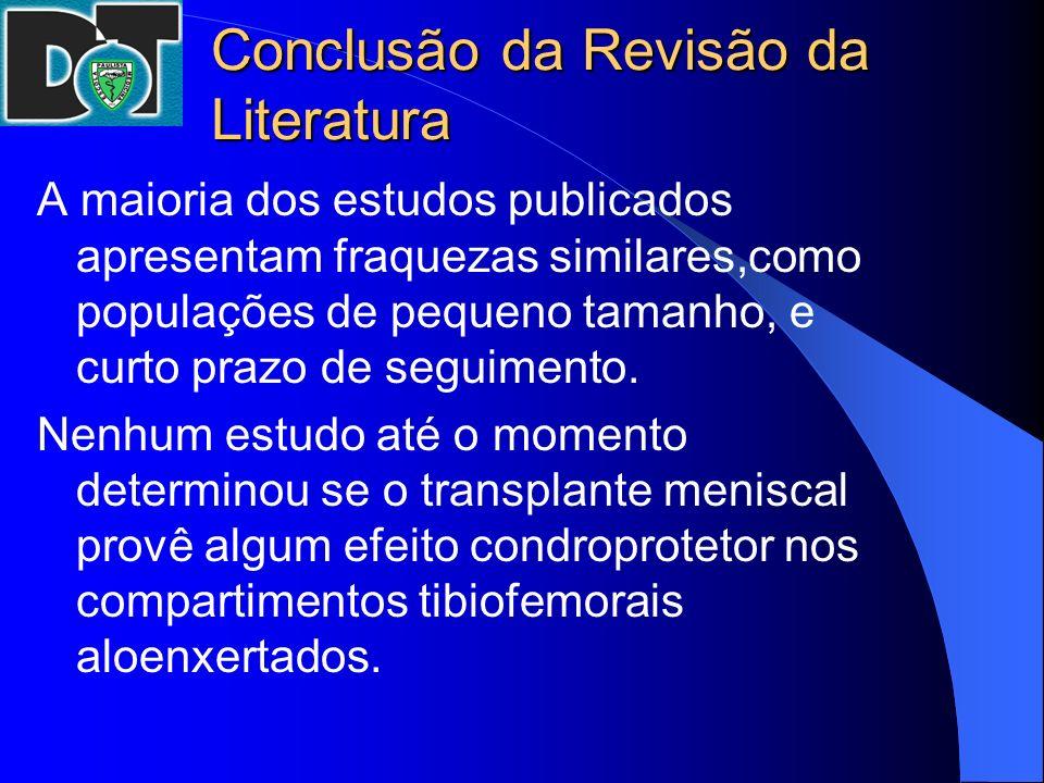 Conclusão da Revisão da Literatura