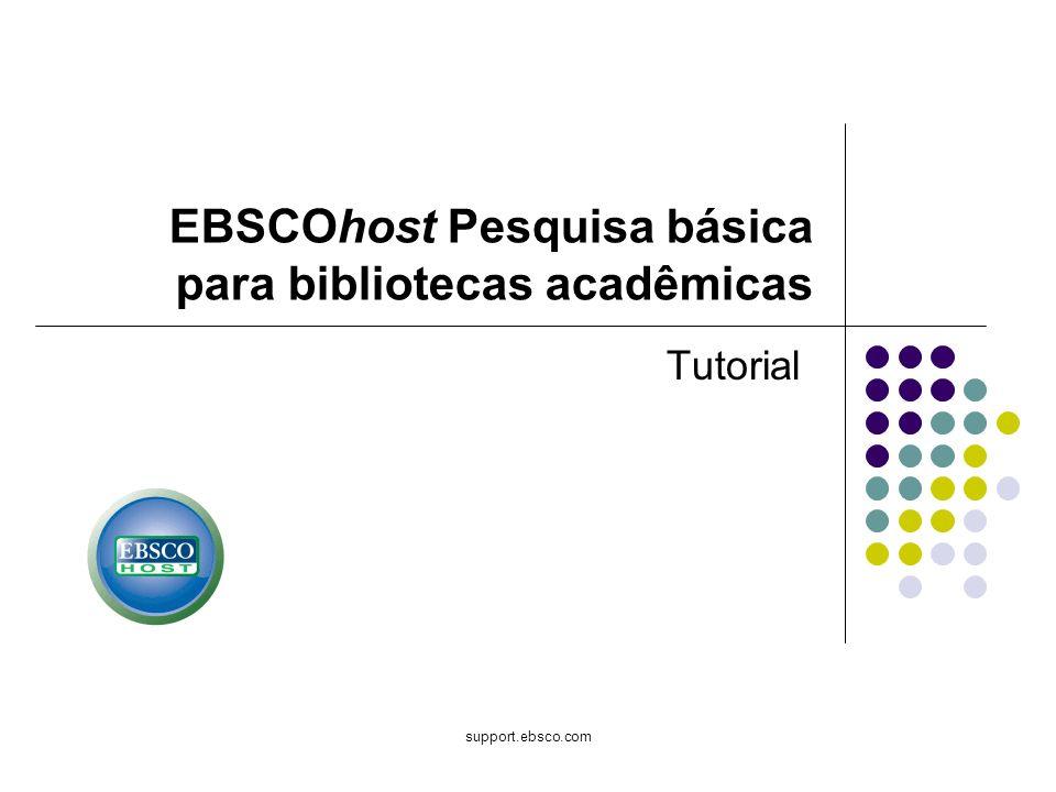 EBSCOhost Pesquisa básica para bibliotecas acadêmicas