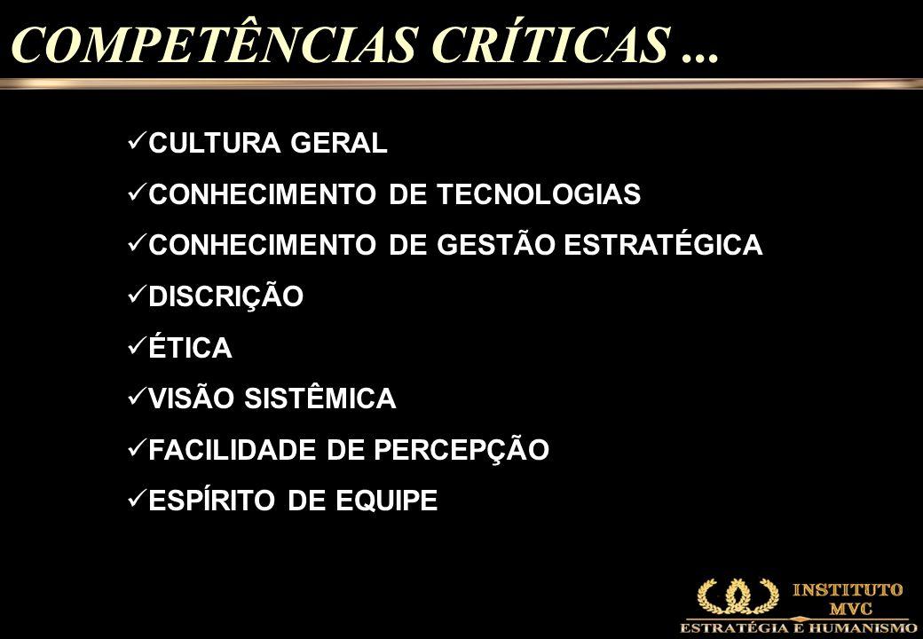 COMPETÊNCIAS CRÍTICAS ...
