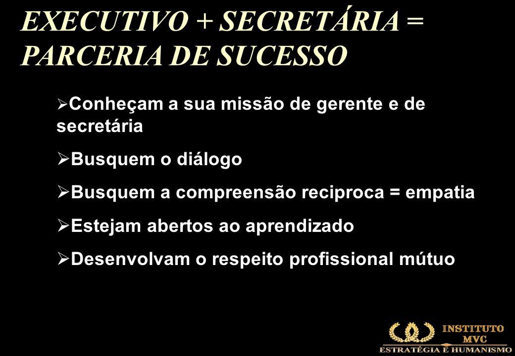 EXECUTIVO + SECRETÁRIA = PARCERIA DE SUCESSO