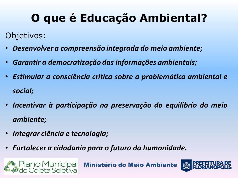 O que é Educação Ambiental