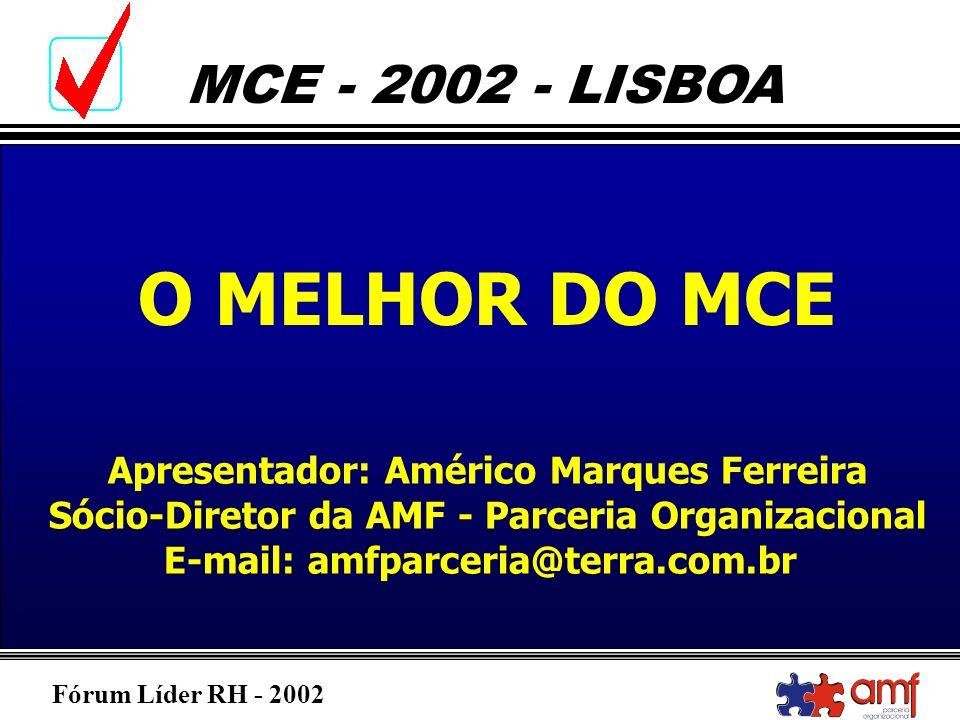 O MELHOR DO MCE Apresentador: Américo Marques Ferreira