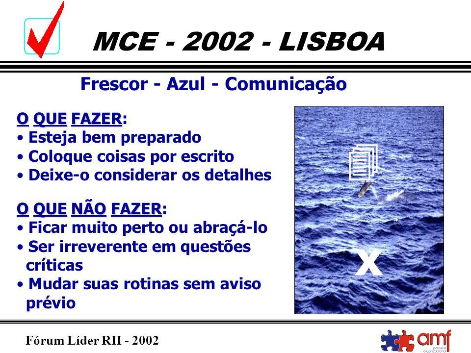 x  Frescor - Azul - Comunicação O QUE FAZER: Esteja bem preparado