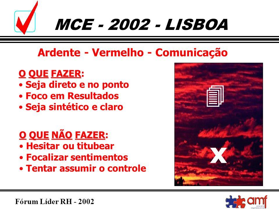 x  Ardente - Vermelho - Comunicação O QUE FAZER: