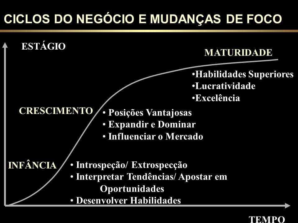 CICLOS DO NEGÓCIO E MUDANÇAS DE FOCO
