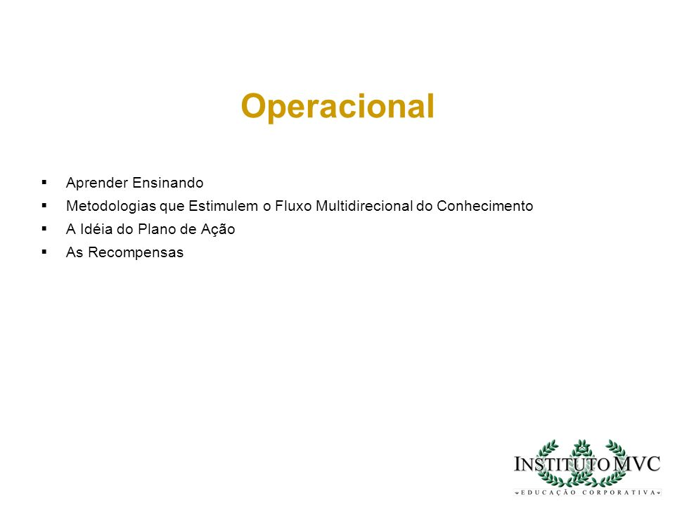 Operacional Aprender Ensinando