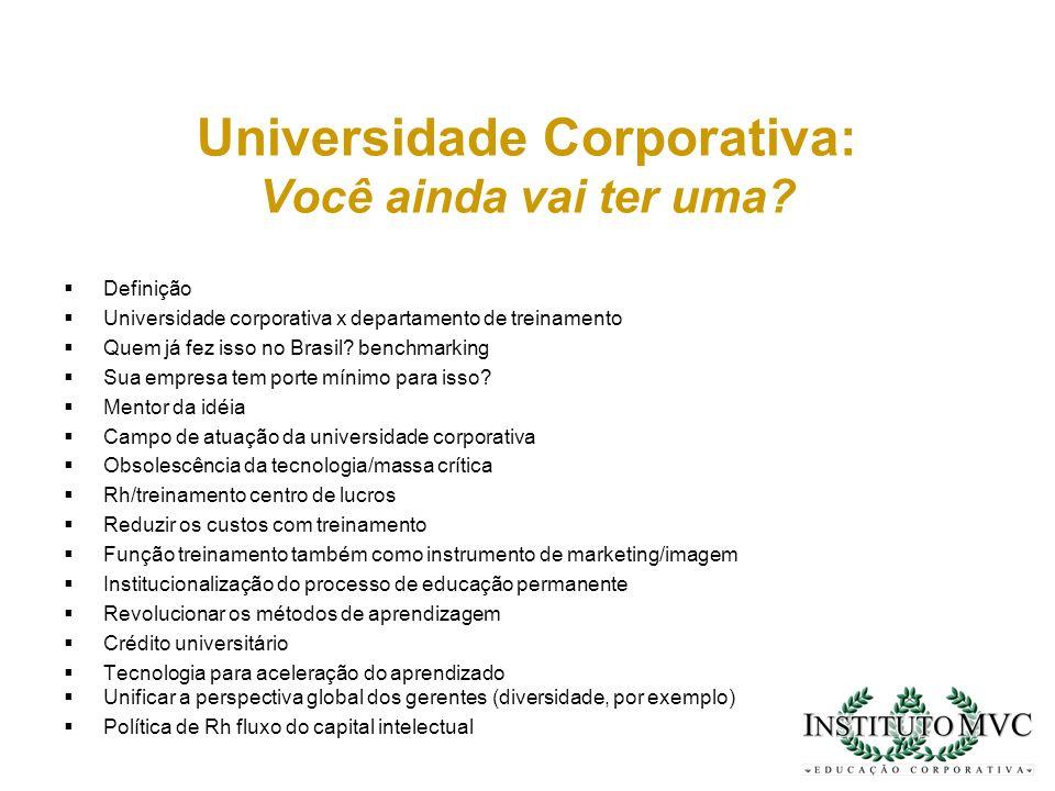 Universidade Corporativa: Você ainda vai ter uma