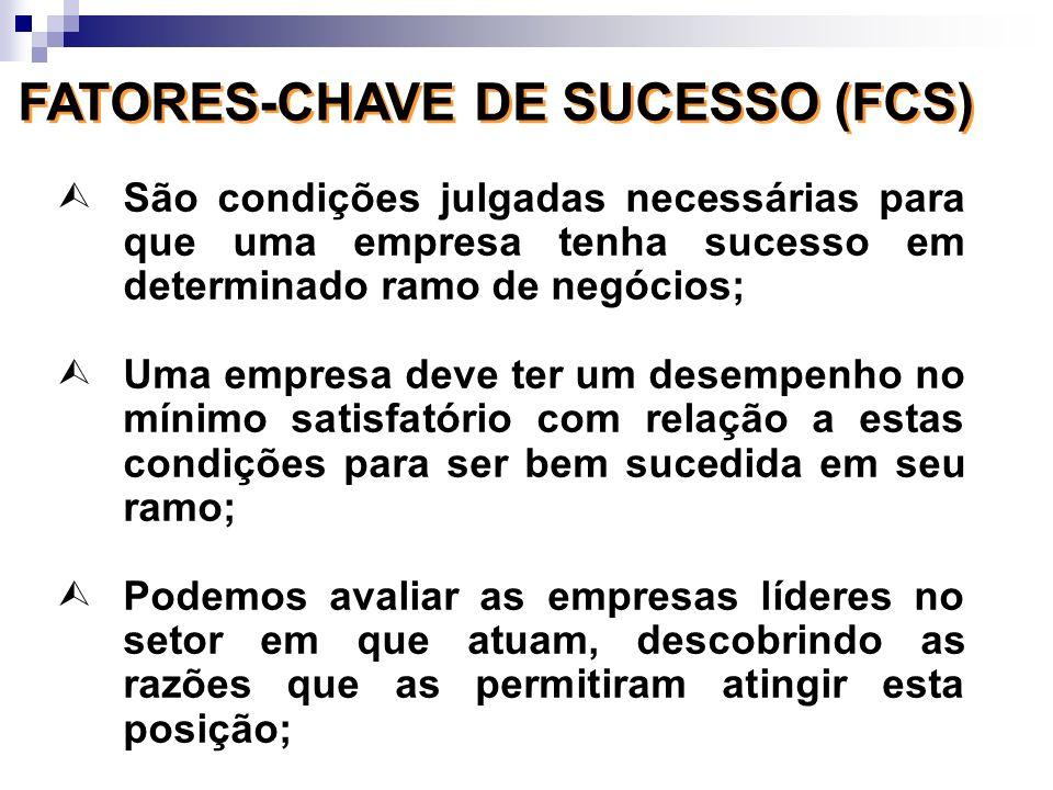 FATORES-CHAVE DE SUCESSO (FCS)