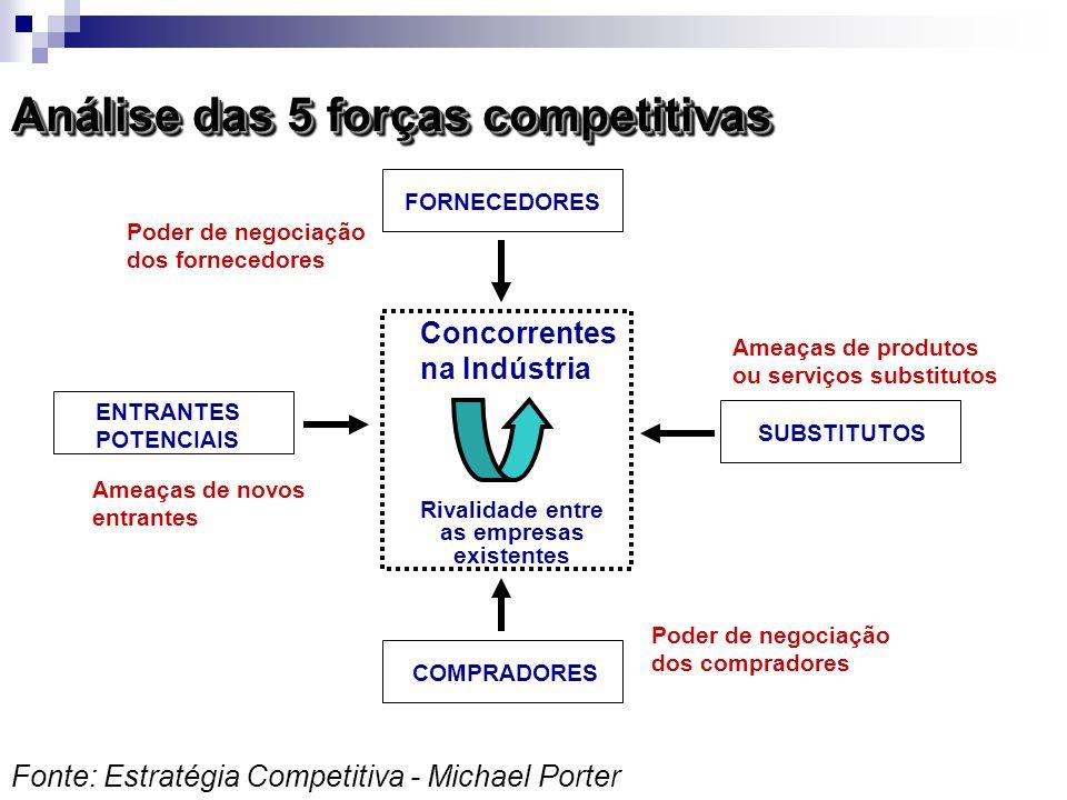 Rivalidade entre as empresas existentes