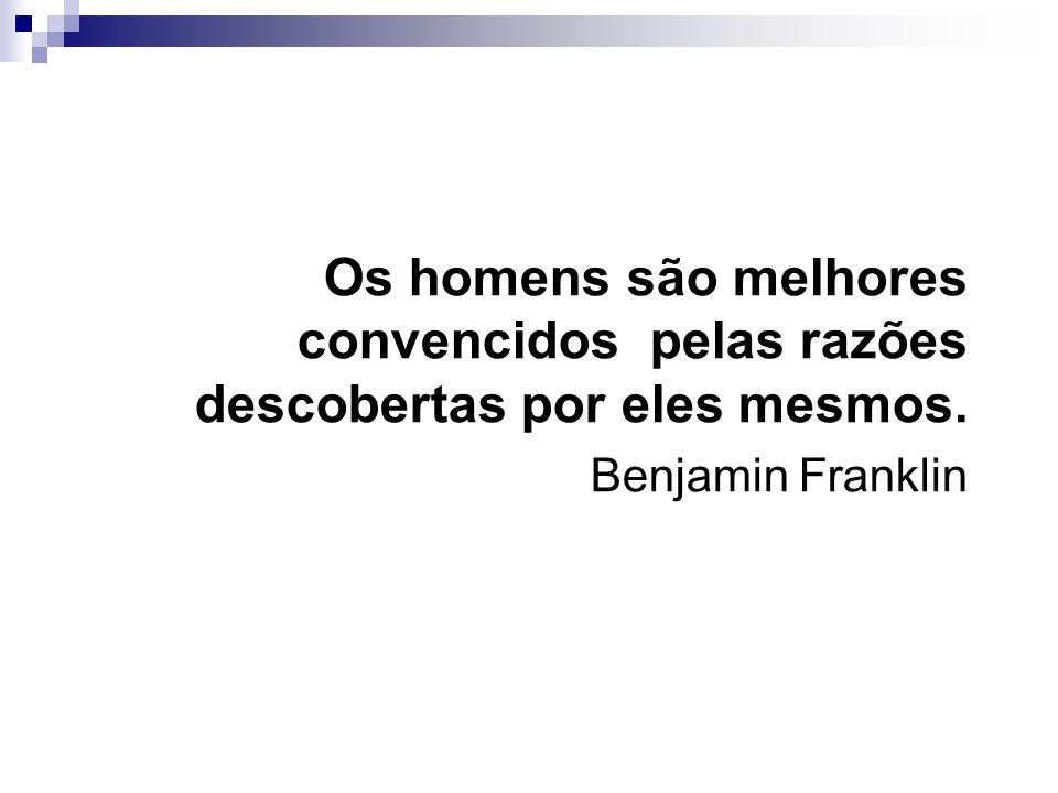 Os homens são melhores convencidos pelas razões descobertas por eles mesmos.