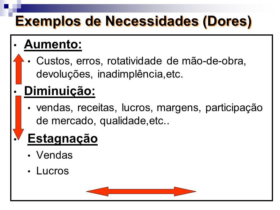 Exemplos de Necessidades (Dores)