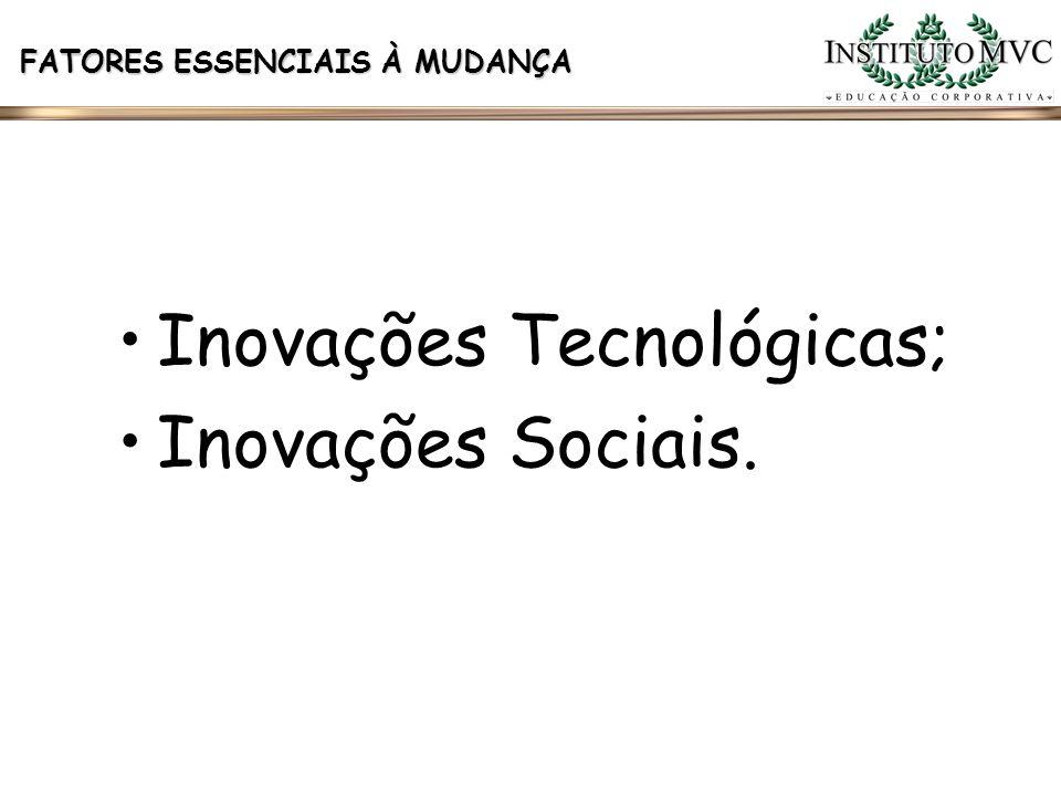 Inovações Tecnológicas; Inovações Sociais.