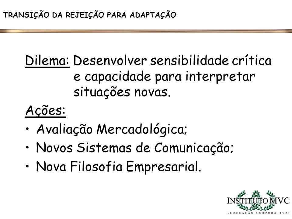 Avaliação Mercadológica; Novos Sistemas de Comunicação;