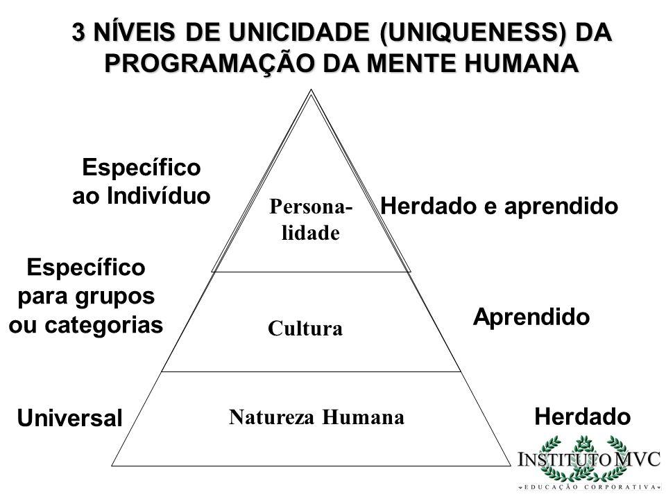 3 NÍVEIS DE UNICIDADE (UNIQUENESS) DA PROGRAMAÇÃO DA MENTE HUMANA