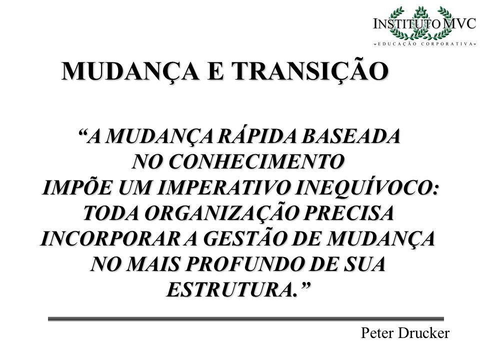 MUDANÇA E TRANSIÇÃO A MUDANÇA RÁPIDA BASEADA NO CONHECIMENTO