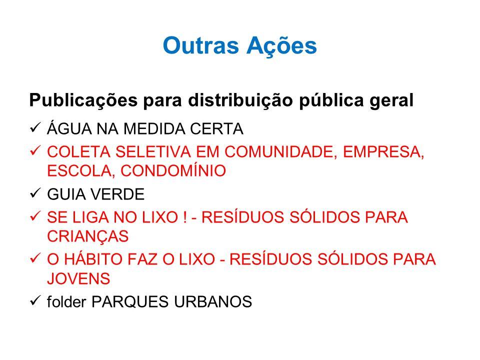 Outras Ações Publicações para distribuição pública geral