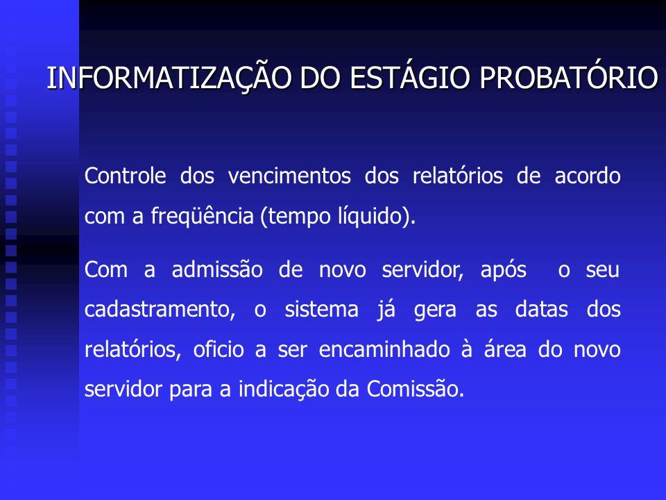 INFORMATIZAÇÃO DO ESTÁGIO PROBATÓRIO