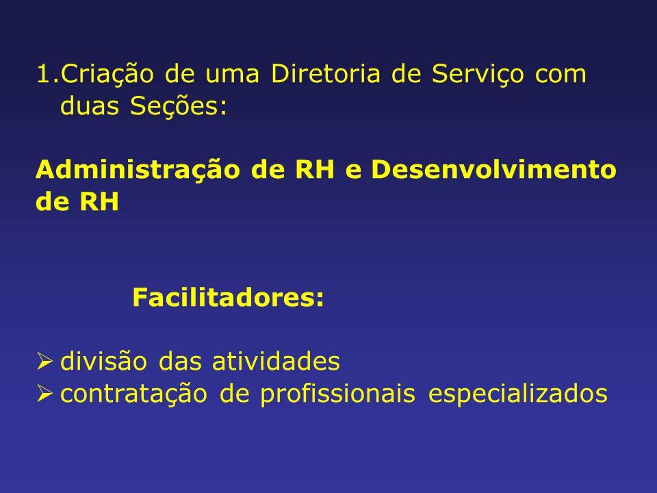 Criação de uma Diretoria de Serviço com duas Seções: