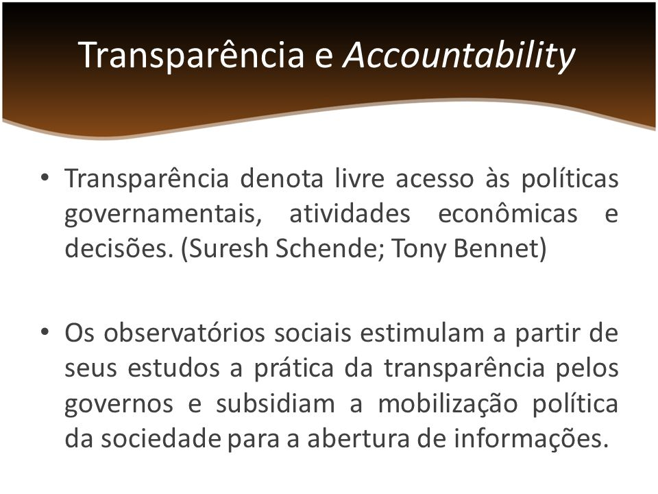 Transparência e Accountability