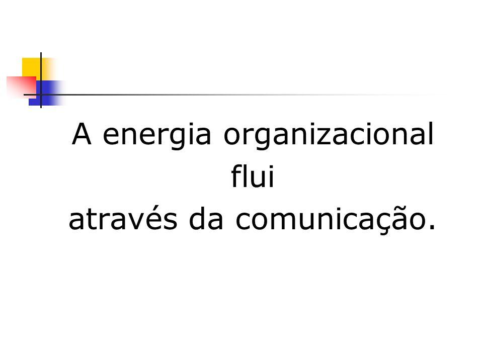 A energia organizacional flui através da comunicação.
