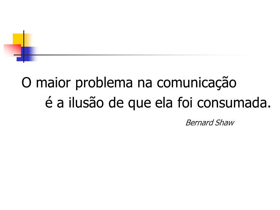 O maior problema na comunicação é a ilusão de que ela foi consumada.