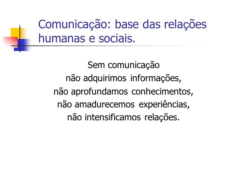 Comunicação: base das relações humanas e sociais.