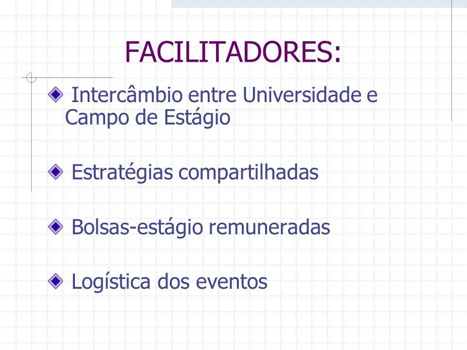 FACILITADORES: Intercâmbio entre Universidade e Campo de Estágio