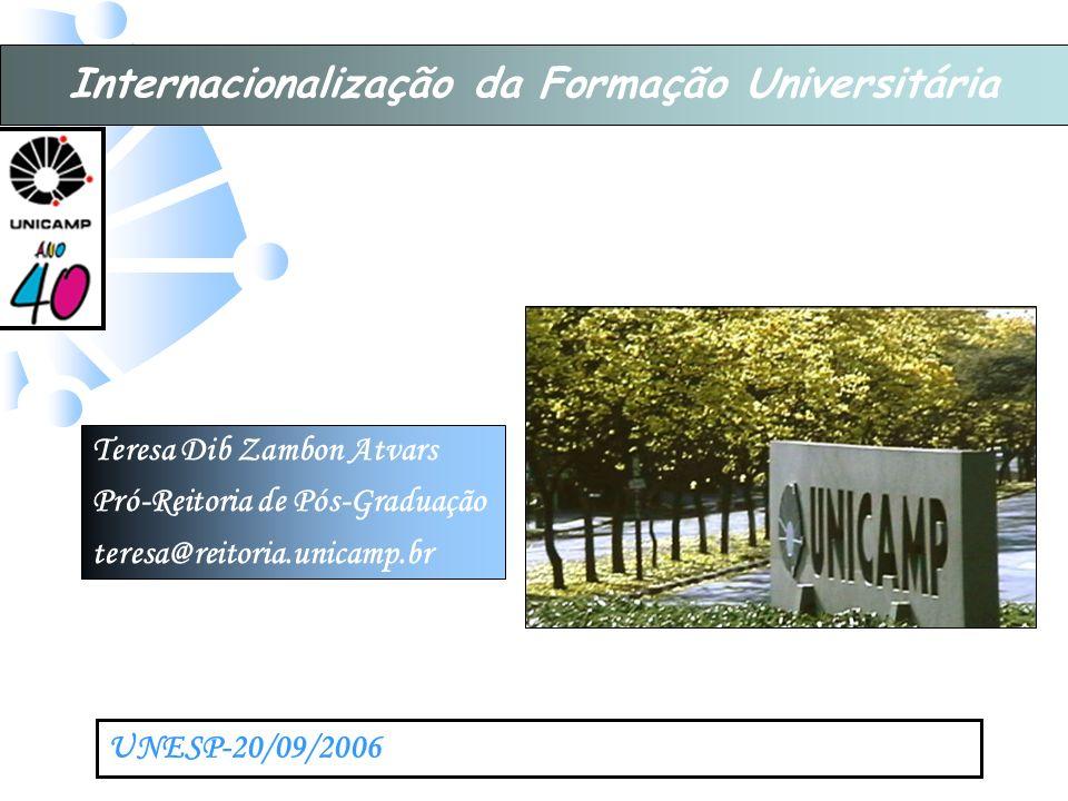 Internacionalização da Formação Universitária