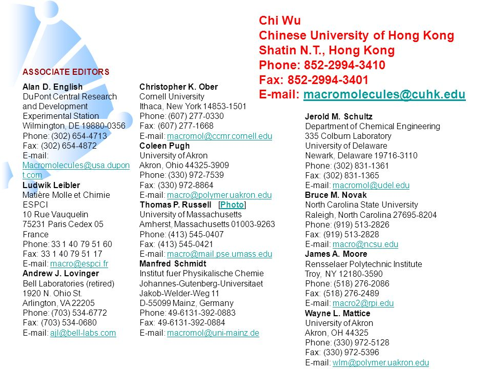 Chi Wu Chinese University of Hong Kong Shatin N. T