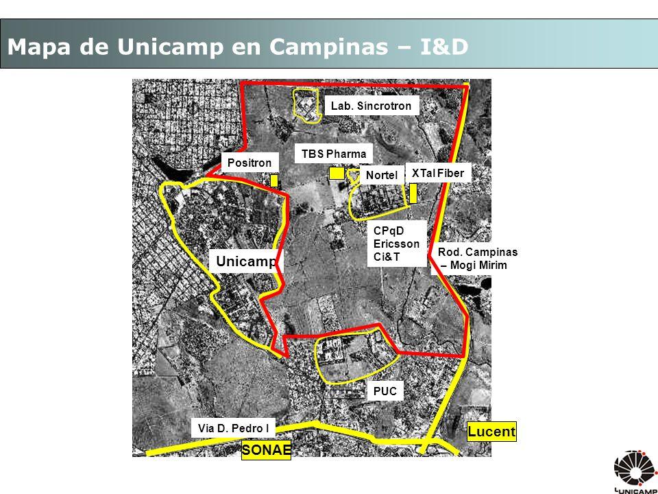 Mapa de Unicamp en Campinas – I&D