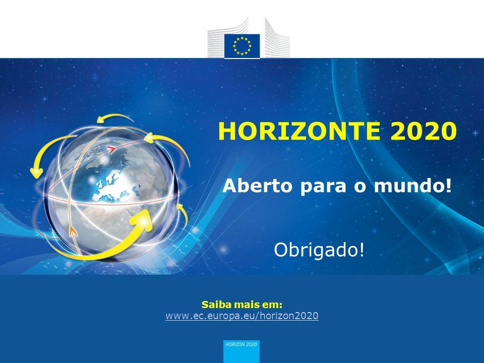 Saiba mais em: www.ec.europa.eu/horizon2020