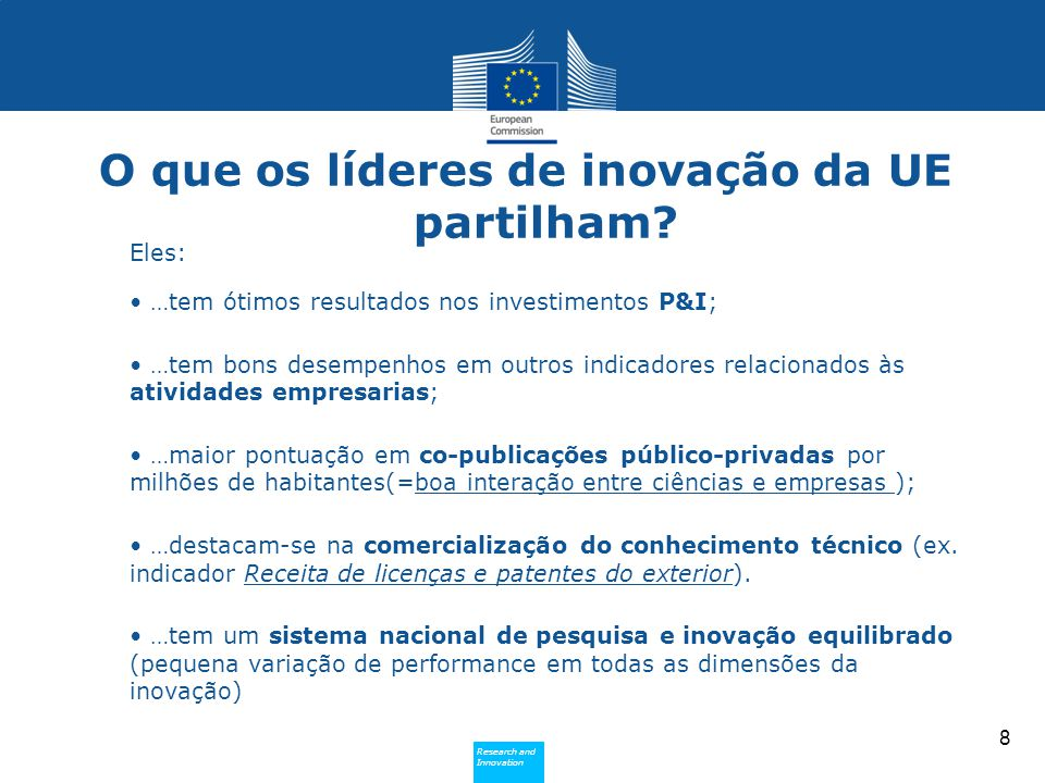 O que os líderes de inovação da UE partilham