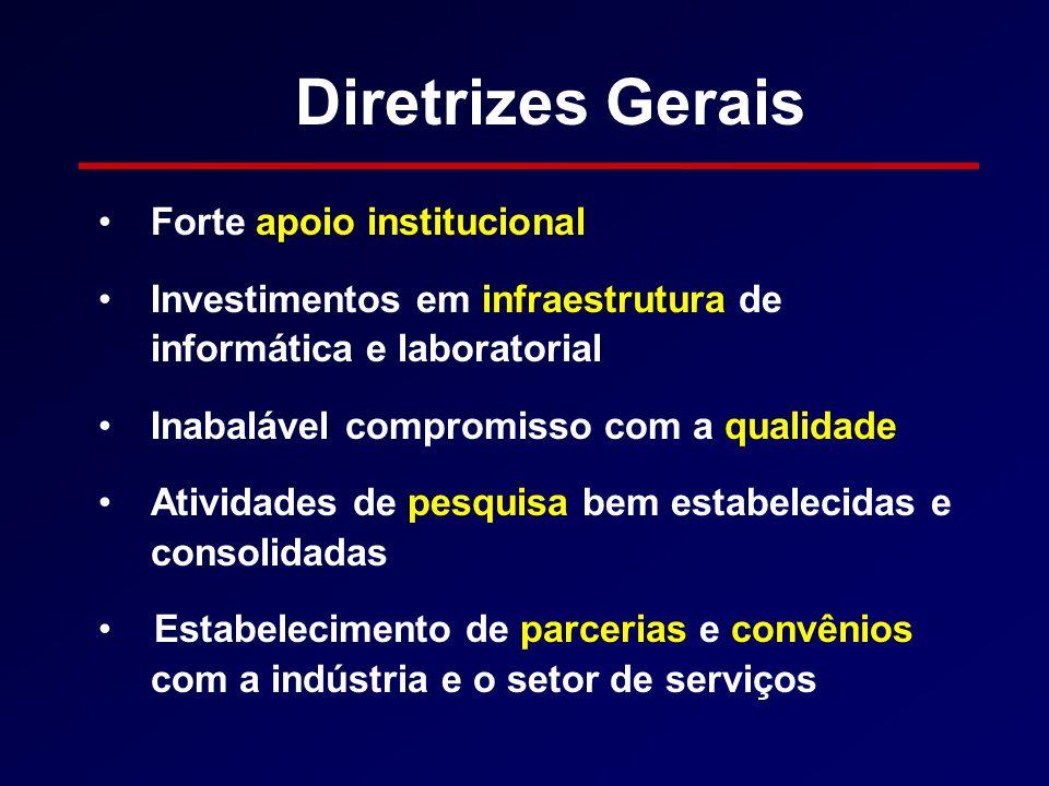 Diretrizes Gerais Forte apoio institucional