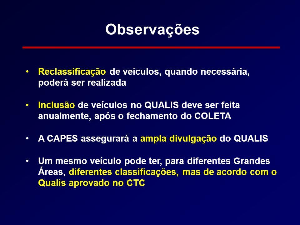 Observações Reclassificação de veículos, quando necessária, poderá ser realizada.