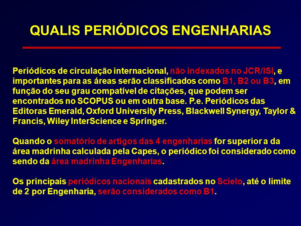 QUALIS PERIÓDICOS ENGENHARIAS