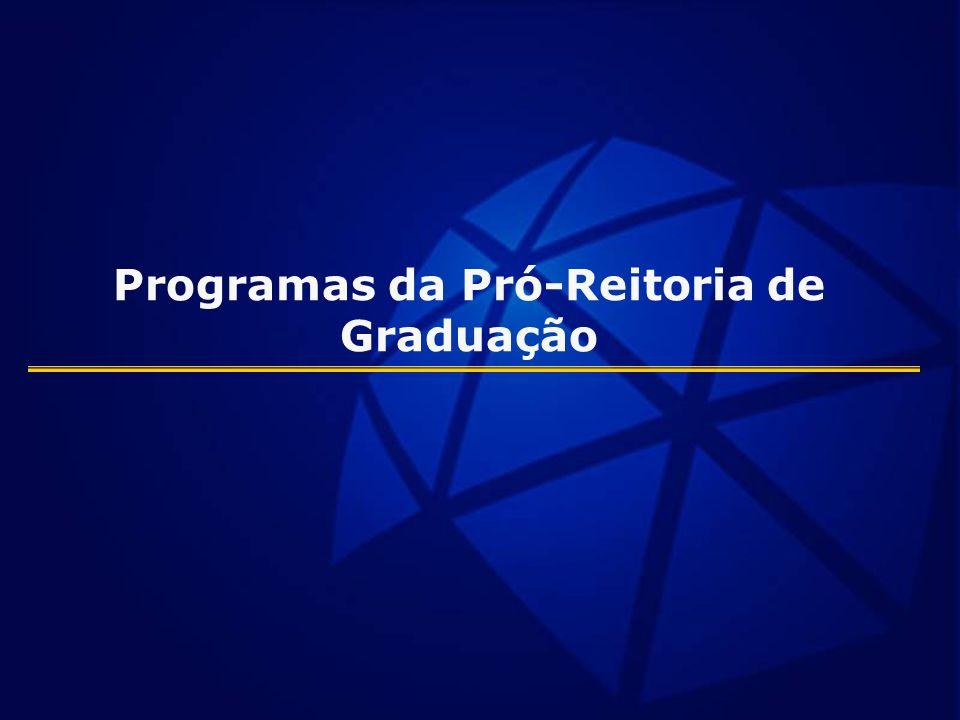 Programas da Pró-Reitoria de Graduação