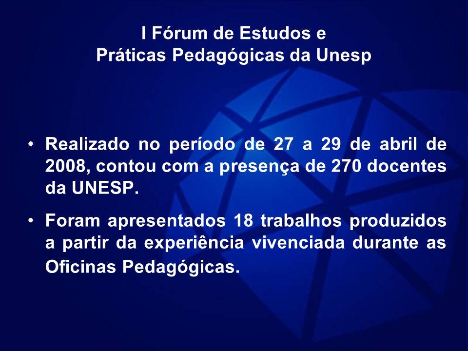 I Fórum de Estudos e Práticas Pedagógicas da Unesp