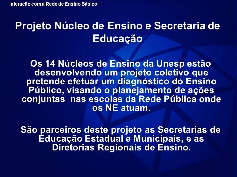 Projeto Núcleo de Ensino e Secretaria de Educação