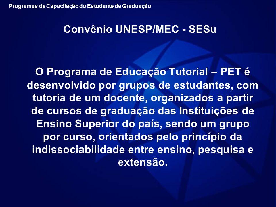 Convênio UNESP/MEC - SESu