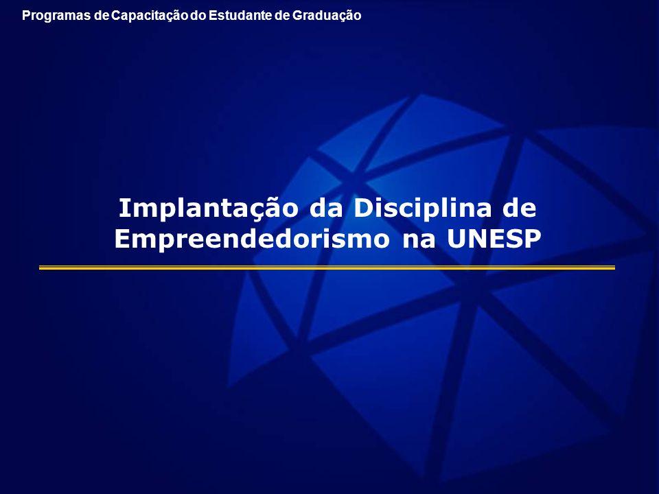Implantação da Disciplina de Empreendedorismo na UNESP