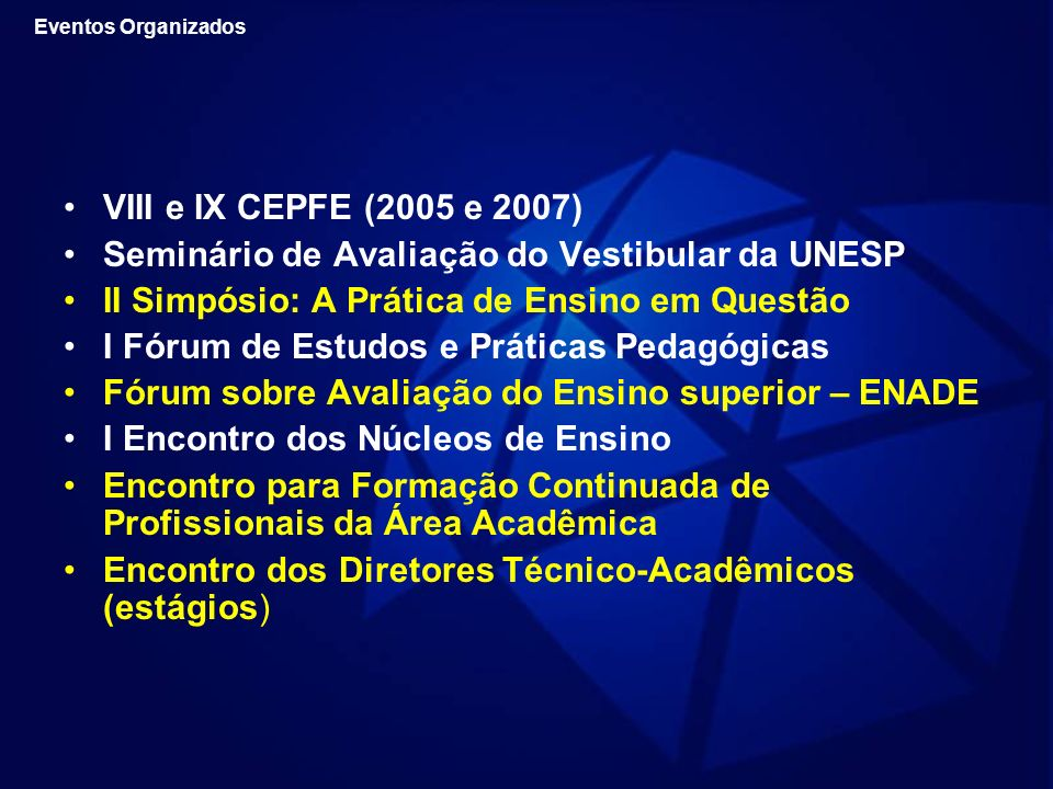 Seminário de Avaliação do Vestibular da UNESP