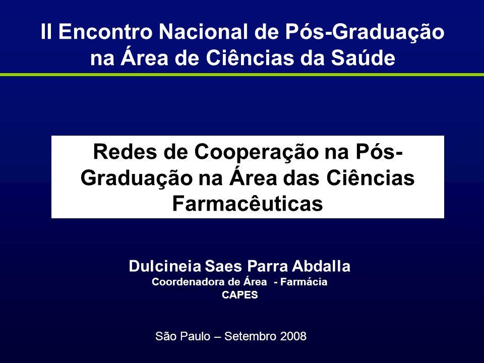 II Encontro Nacional de Pós-Graduação na Área de Ciências da Saúde