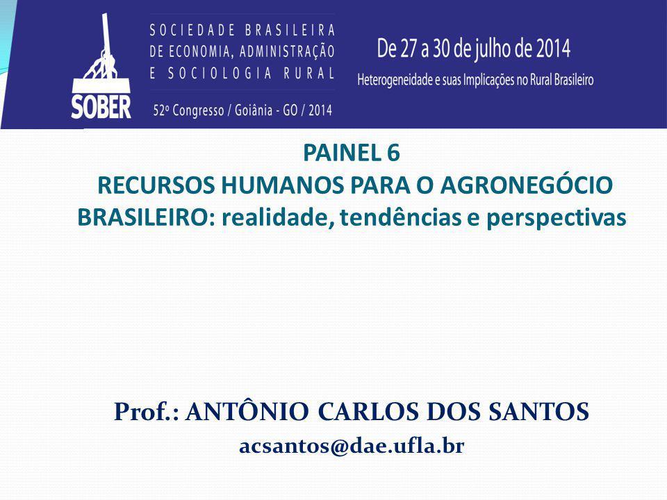 Prof.: ANTÔNIO CARLOS DOS SANTOS