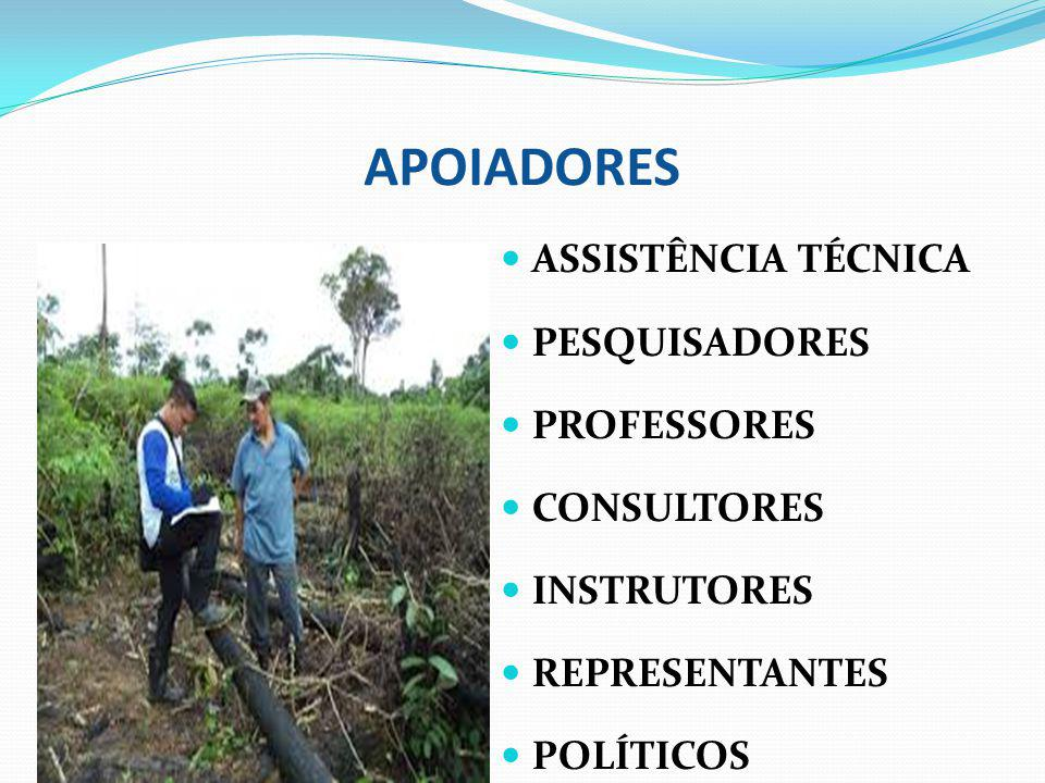 APOIADORES ASSISTÊNCIA TÉCNICA PESQUISADORES PROFESSORES CONSULTORES