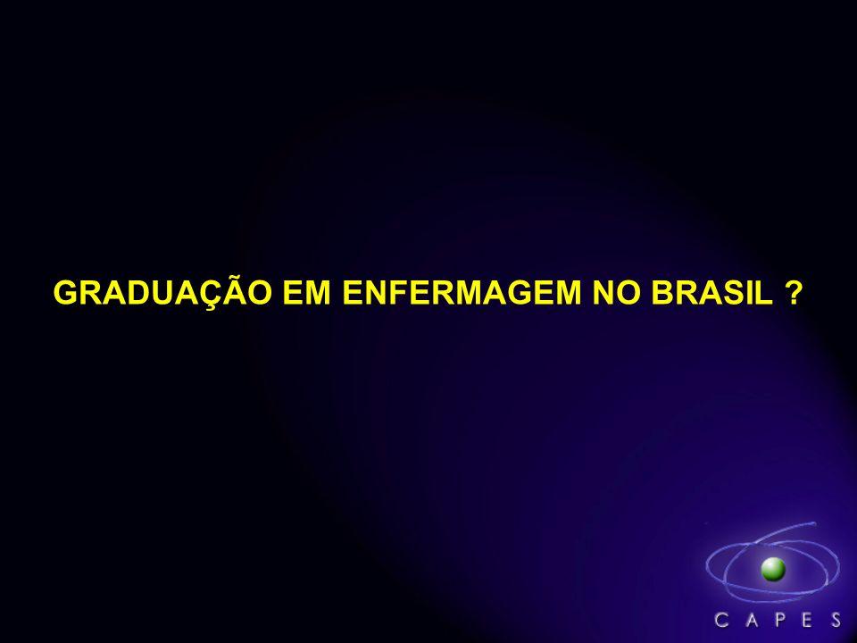 GRADUAÇÃO EM ENFERMAGEM NO BRASIL