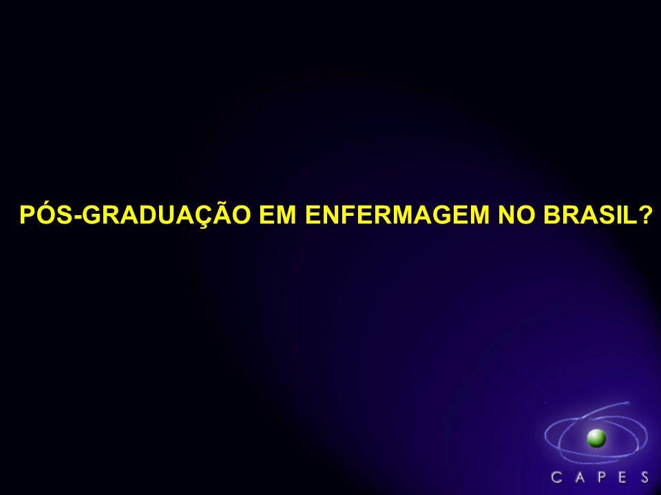 PÓS-GRADUAÇÃO EM ENFERMAGEM NO BRASIL