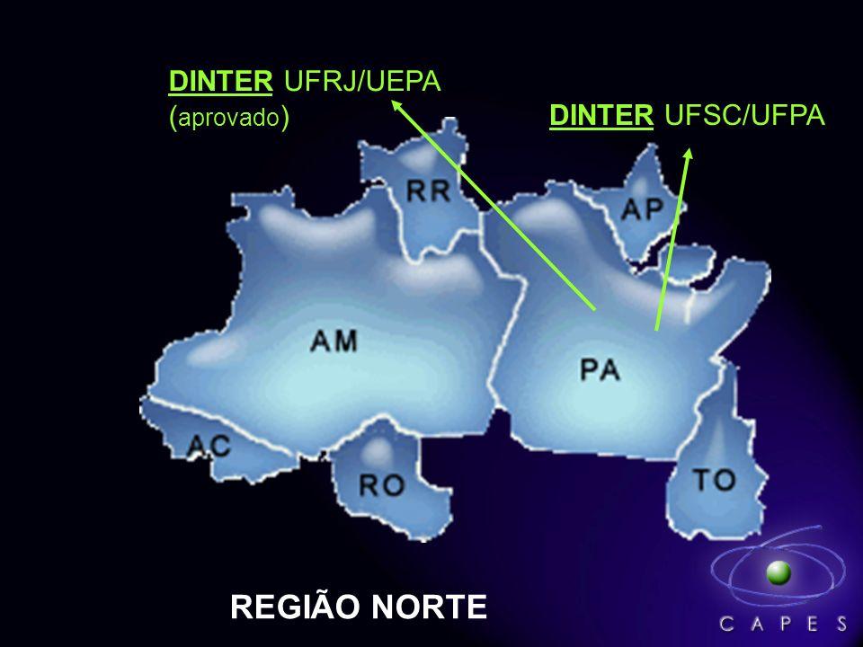 DINTER UFRJ/UEPA (aprovado) DINTER UFSC/UFPA REGIÃO NORTE