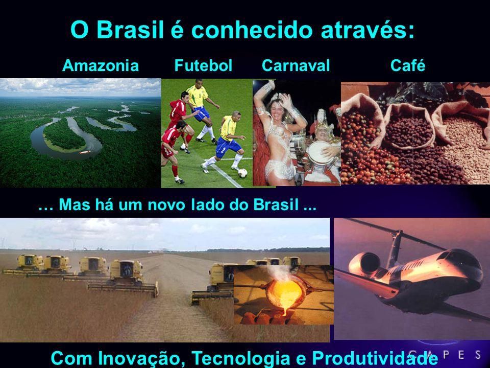 O Brasil é conhecido através: Com Inovação, Tecnologia e Produtividade