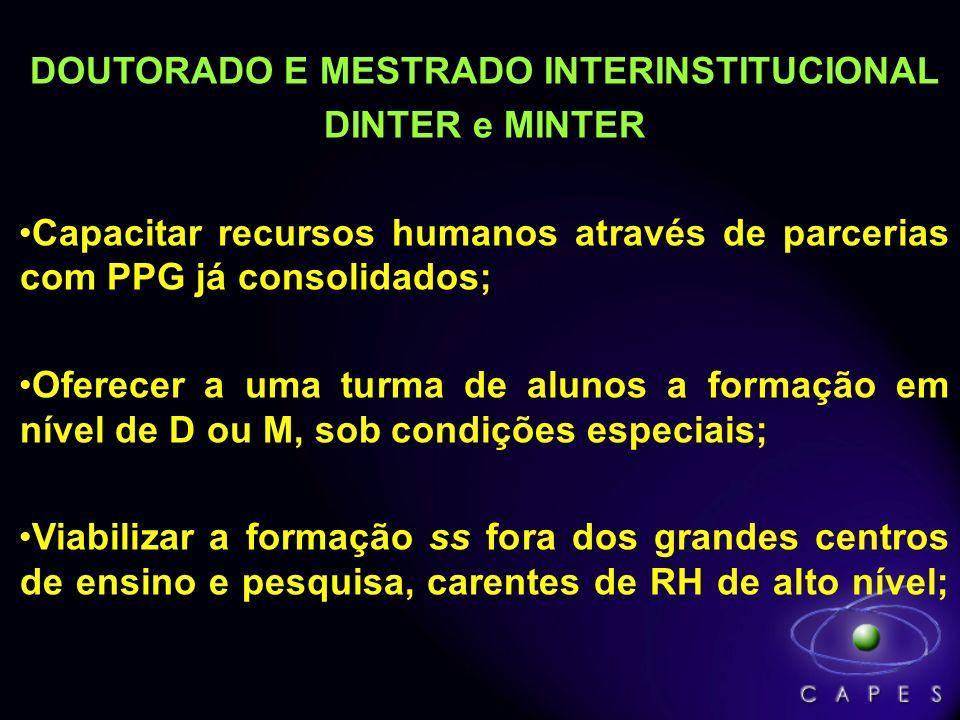 DOUTORADO E MESTRADO INTERINSTITUCIONAL