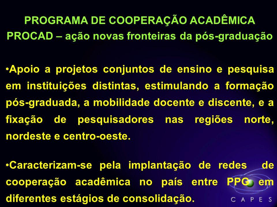 PROGRAMA DE COOPERAÇÃO ACADÊMICA